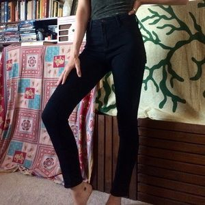 High-Rise Black Skinny Jeans Size 27